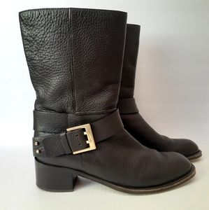 Chloé Prince Mid Calf Leather Boots